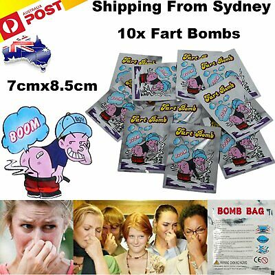 10 x Fart Bomb Bombs Bag Very Smelly Novelty Stink Prank Gag Trick Joke Game Fun