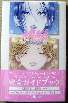 NANA Animation Artbook Ai Yazawa Anime Manga 1stPress + Sticker Vinylumschlag