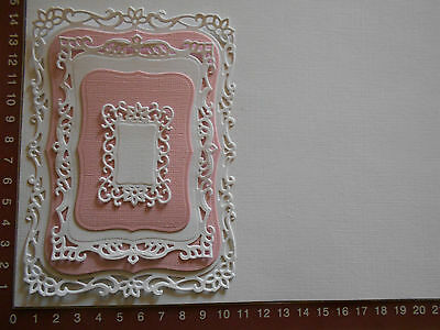 Die cuts - Elegant mats, Card Toppers, Embellishments - Pink
