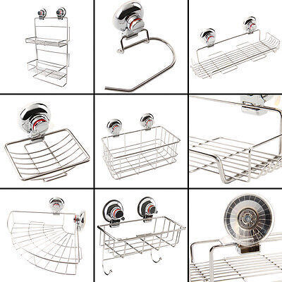 Strong Suction Soap Dish Holder Stainless Steel Shower Tray Bathroom Accessory