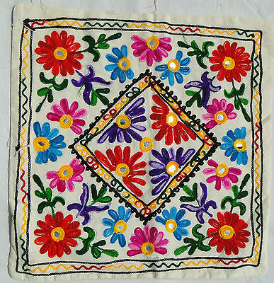 Handmade Ethnic Cushion Cover Floral Embroidery Art Hippy Boho Tapestry India H6