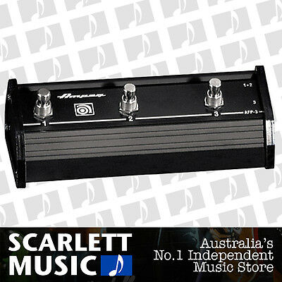 Ampeg AFP-3 Triple Footswitch AFP3 w/12ft Cable + 3 Years Warranty *BRAND NEW*