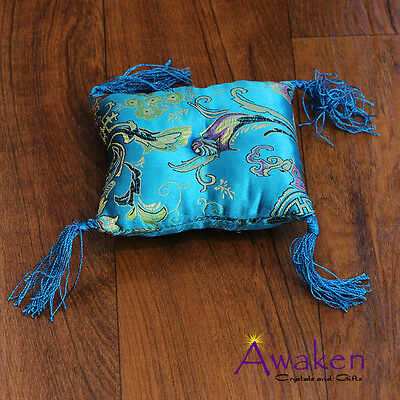 AQUA 10 x 10cm Square Cushion for Tibetan Singing Bowl