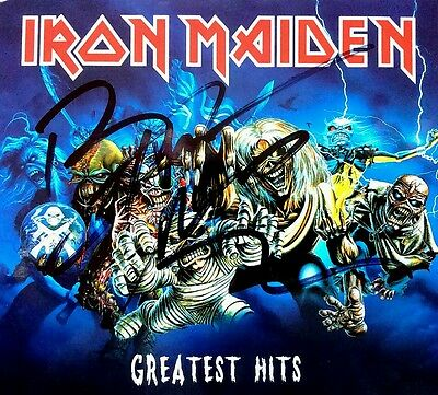 IRON MAIDEN BRUCE DICKINSON GREATEST HITS ALBUM 2CD's HAND SIGNED AUTOGRAPHED