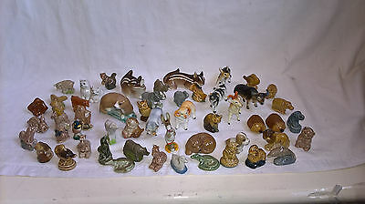 A collection of ceramic miniature animal models