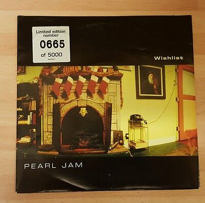 "Pearl Jam 'wishlist' 7"" Numbered Vinyl Single"