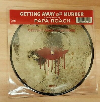 """Papa Roach 'getting Away With Murder' 7"""" Picture Disc Vinyl Single"""