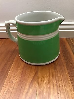 Fowler Ware Green And White Jug
