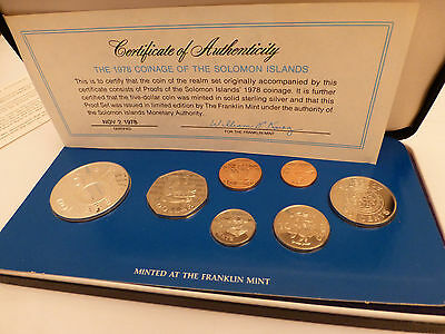 1978 Coinage Of The Solomon Island Proof Set