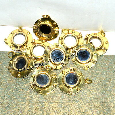 Brass Porthole Mirror Keychain Maritime & Collectible Lot Of 10