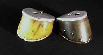 WW1 Antique Trench  Art / SALONICA / Horse Hooves X2 /Taxidermy Hooves