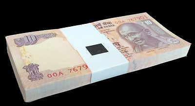 India 10 Rupees 2016 P-102 Unc Lot 100 Pcs 1 Bundle