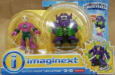 Imaginext Battle Armour Lex Luthor DC Super Friends NEW Armor by Fisher Price