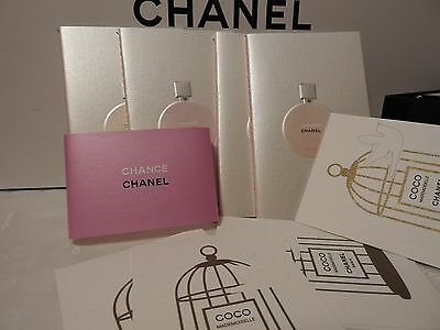gift from Chanel CHANCE 4 notepad NEW + 5 card