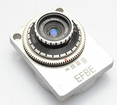 EFBE with Ennit 2.8/20mm Novelty Subminiture camera
