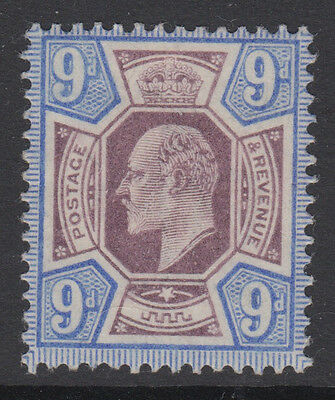 SG 251 9d Slate Purple & Ultramarine M39 (2) very fine & fresh lightly mounted.