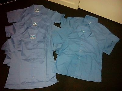 St Mark short sleeve school shirts size 6 blue x 5 shirts - nwot