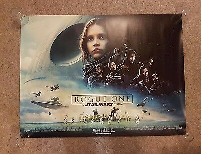 Star Wars Rogue One Poster Cinema Landscape Quad Double Sided