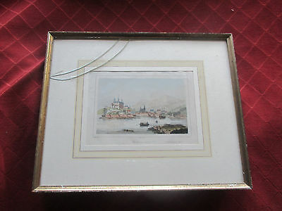 old antique print of christiania norway