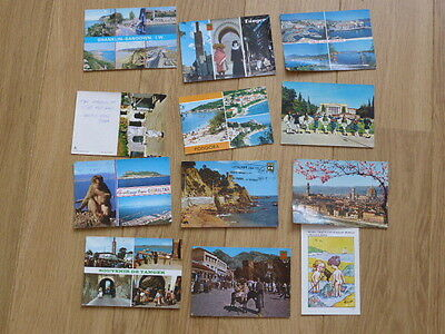 12 old postcards, 1980's