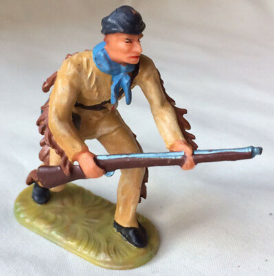 Elastolin Wild West Frontier Daniel Boone or Davy Crockett - hunter trapper