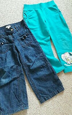 girls verbaudet jeans and joggers size 3-4 y vgc