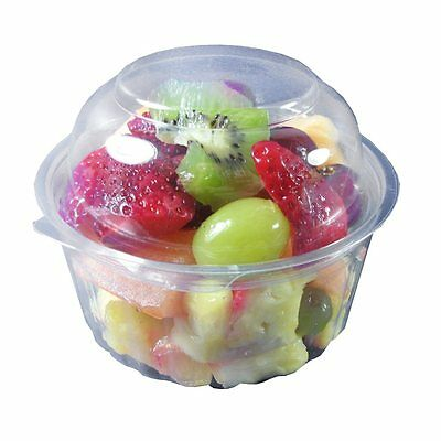 250 units 12 oz sho bowl containers with dome lids, 350 ml