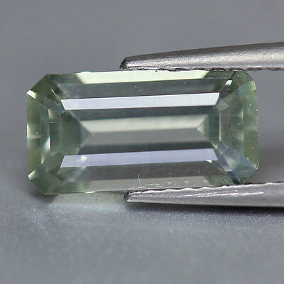 1.84 Cts-Emerald Cut-Natural-Very Rare Baby Green-Apatite-GE3331
