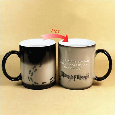 Harry Potter Mug Color Change Coffee Mischief Managed Magic Ceramic Cup Gift