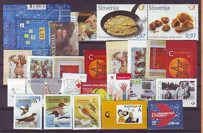 Slovenia 2016 y Complete year all stamps issues MNH