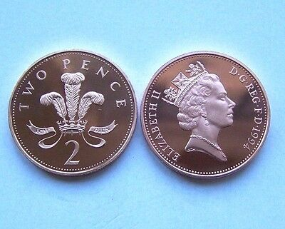 1994 proof  Two  pence.