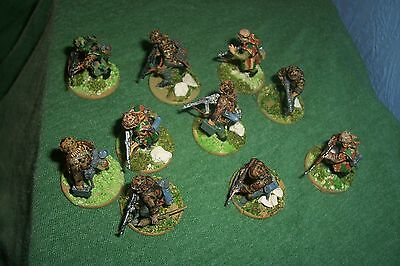 Painted 28mm warlord ww2 German miniatures