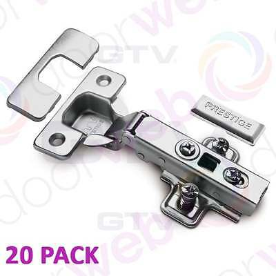 20 PACK SOFT CLOSE HINGES Kitchen Self Closing Door Hinge Cabinet Cupboard 35mm