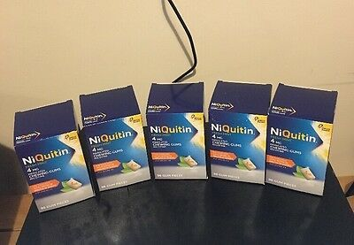 5 Boxes Of NiQuitin 4mg Chewing Gum