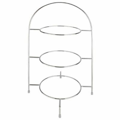 Afternoon Tea Stand for Plates Made of Chrome 490(H) x 295(W) x 290(D)mm