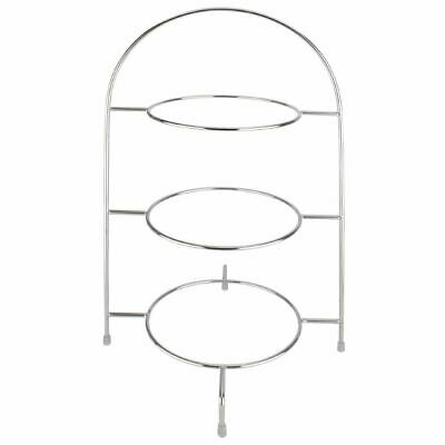 Olympia Afternoon Tea Stand for Plates Up To 267mm Chrome