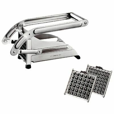 Tellier French Fry Cutter with Pusher and Sharp Stainless Steel Blades