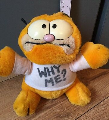 """Vintage Garfield """"why Me"""" Soft Toy 1978 1981"""