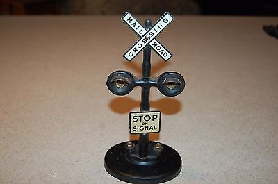 vintage railroad crossing train signal light