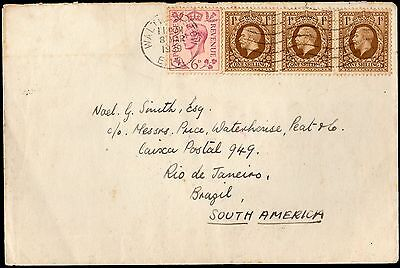 NT30 - Great Britain cover to Brazil - 1939 - King George V and King George VI
