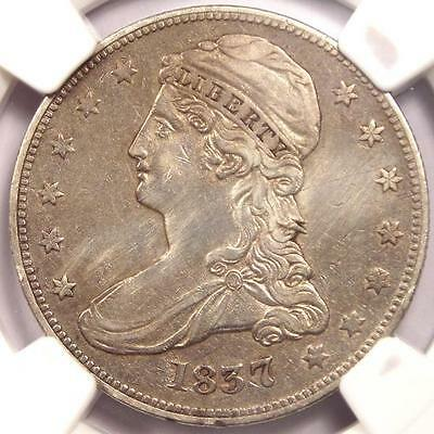 1837 Capped Bust Half Dollar 50C - NGC AU Details  - Rare Certified Coin
