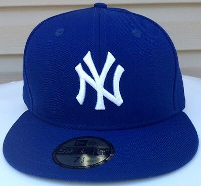 NEW YORK YANKEES New Era BASIC FASHION 5950 FITTED HAT PICK YOUR SIZE COLOR BLUE