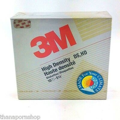 """10 pack  3M 5.25"""" DS/DD Double Sided Double Density Floppy diskettes"""