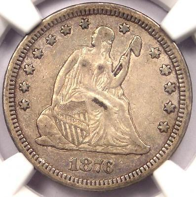 1876-CC Seated Liberty Quarter 25C - NGC XF Details - Rare EF Carson City Coin