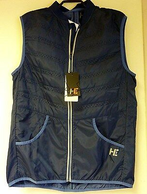 BNWT Men's Blue H2 Technical Running Gilet Breathable Lightweight Medium