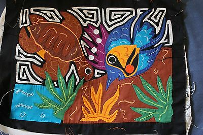 Turtle and Fish Appliqued mola