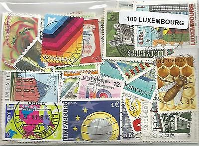Lot 100 timbres du Luxembourg