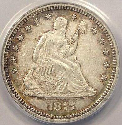 1877-S Seated Liberty Quarter 25C - ANACS AU58 Details - Rare Certified Coin
