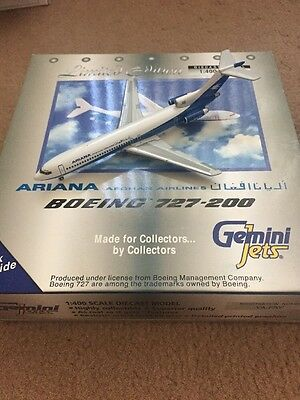 gemini jets Boeing 727-200 Ariana Afghan Airlines Scale 1:400 Very Rare