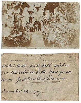 DYMOCK RP Postcard 1907 Signed on reverse by George Onslow Deane, Cricketer